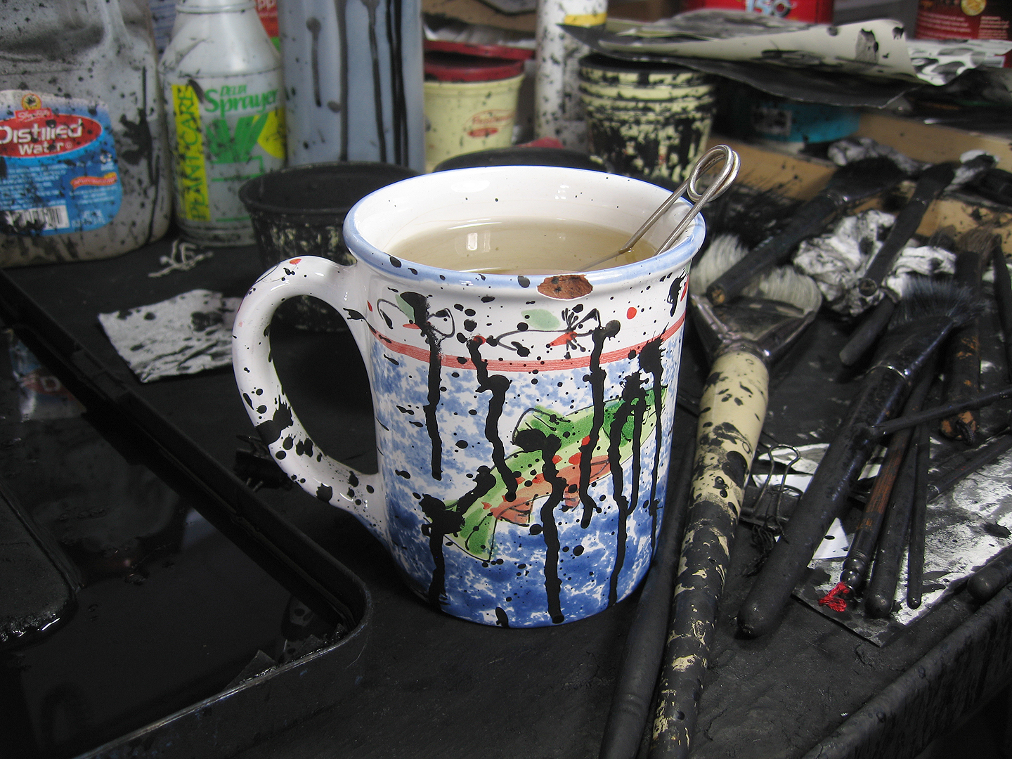 Logan Ink Splattered Mug